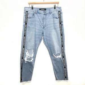 EXPRESS High Waisted Distressed Boyfriend Jeans 12